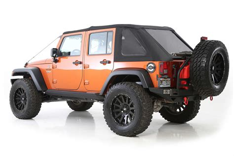 Smittybilt Jeep Tops Smittybilt Bowless Combo Soft Top With Prot3k Material For