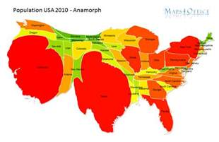 Usa Population Map by Population Map Usa States Powerpoint