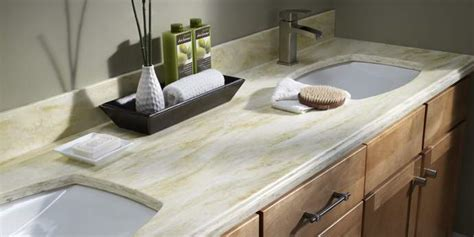 best material for bathroom countertops bathroom countertop material options f w s countertops