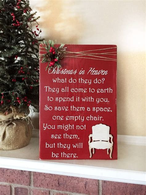 christmas in heaven craft in heaven poem with chair by whisperwillowdesigns crafts
