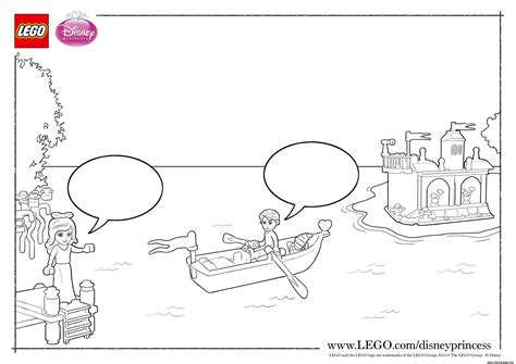 lego boat coloring pages princess ariel boat lego disney coloring pages printable