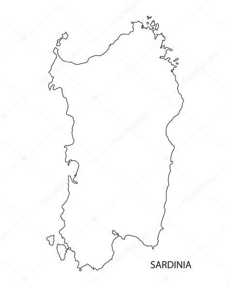 Schwarze Umrisse von Sardinien Karte, Italien