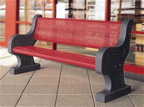 precast concrete bench ends decorative metal armor park bench concrete park