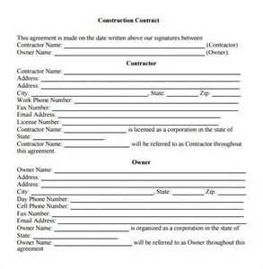 Concrete Contract Template by Sle Contractual Agreement 5 Documents In Pdf Word