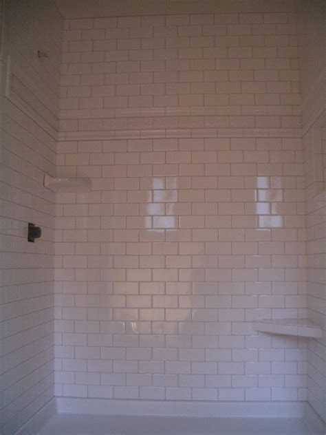 tiling bathtub subway tile shower
