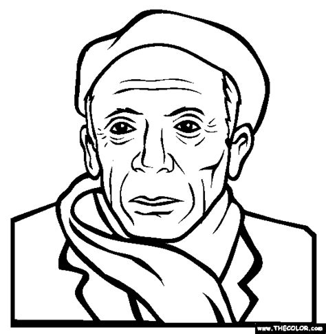Pablo Picasso Coloring Pages free pablo picasso coloring pages