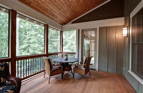 screened porch traditional porch by id