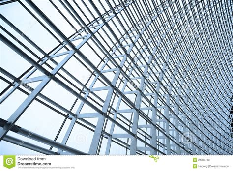 metal and glass steel structure and glass roof stock photo image 21365780