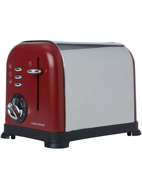 Toasters Online Morphy Richards Red Accents Toaster Review Compare