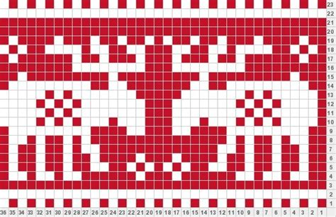 free knitting charts and motifs reindeer knitting charts and motifs
