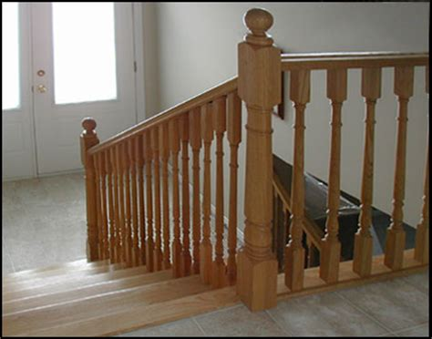 wood banister lacasse large colonial wood balusters for interior railings