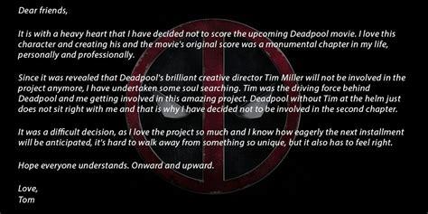 deadpool theme junkie xl junkie xl walks away from composing deadpool 2