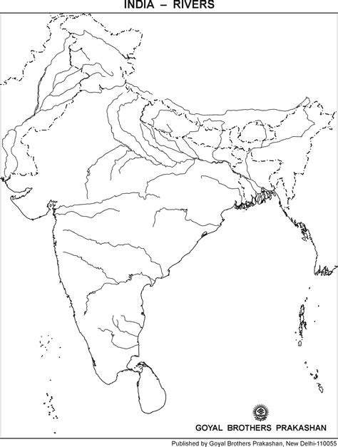 India River Map Outline Plain by Indian Rivers Map Outline My