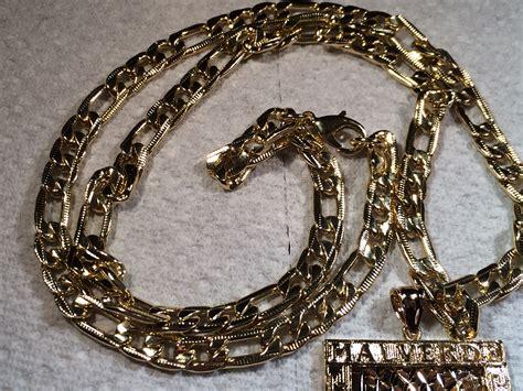 cadena oro verde jesus malverde gold necklace rosary large 26 quot k rosario