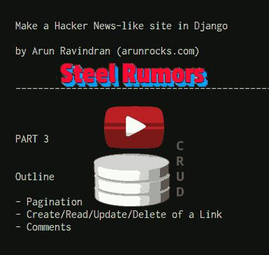 Django Tutorial Hacker News | building a hacker news clone in django part 3 comments