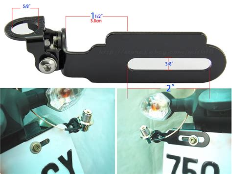 antenna adjustable mount bracket vhf uhf ham radio for motorcycle license plate ebay