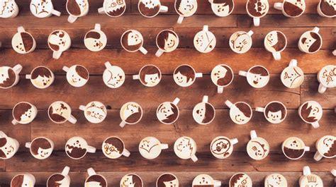 Skull Medium Hold Coffeelatte japanese coffee brand animates stop motion story with 1000 latte artworks