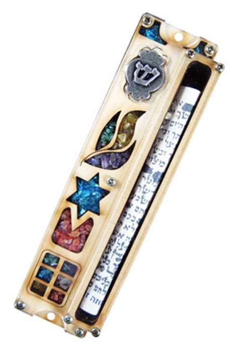 Handmade Mezuzah - handmade door mezuzah with scroll