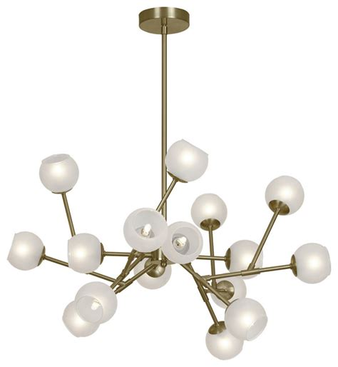 chandelier glass balls 16 light chandelier with frosted glass balls vintage