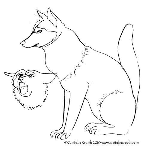 coloring pages of husky dogs c knotes