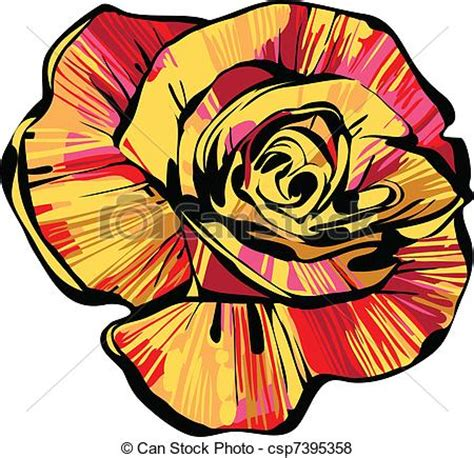 Rosebud 2cm vector of multi colored rosebud a image of nature a