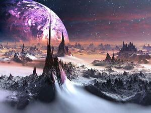 alien world purple planet  full wall mural photo