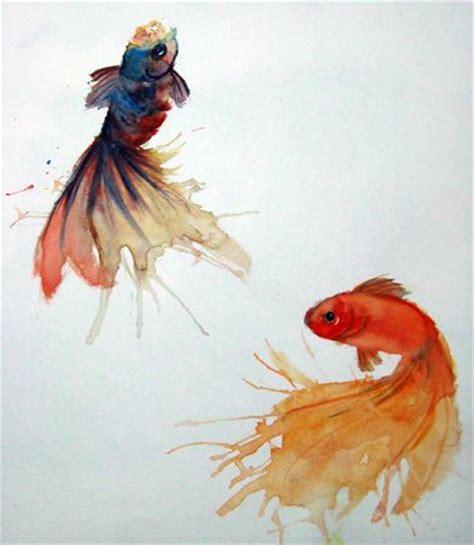 koi fish watercolor paintings goldfish watercolor koi and koi on pinterest