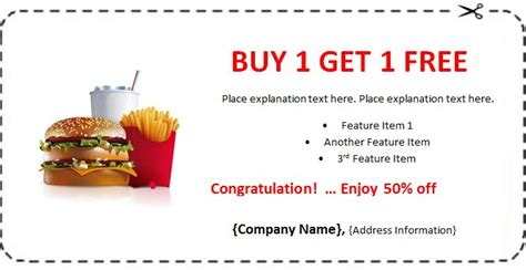free meal coupon template doc 750566 doc1436908 lunch voucher template restaurant