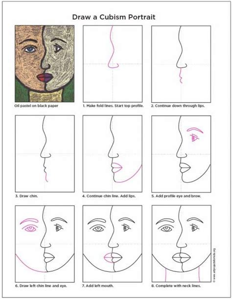 How To Draw Cubism how to draw a cubism portrait projects for