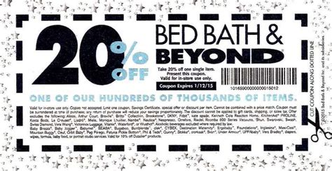 20 coupon for bed bath and beyond 20 bed bath and beyond entire printable coupon 2017