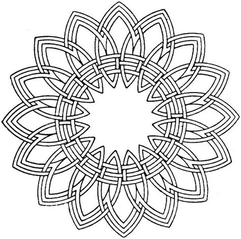 free coloring pages of adults geometric mandala