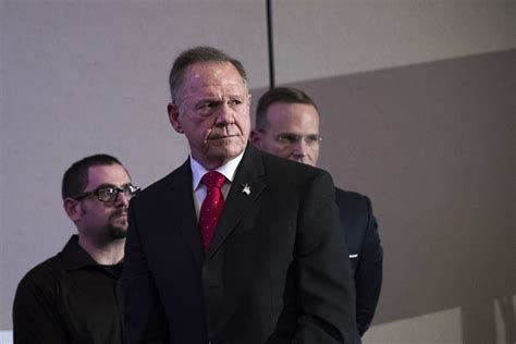 roy moore news conference the democrat running against roy moore is barely getting