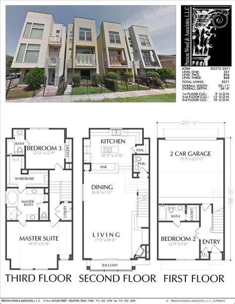 townhouse plans with garage 68 best townhouse duplex plans images on pinterest