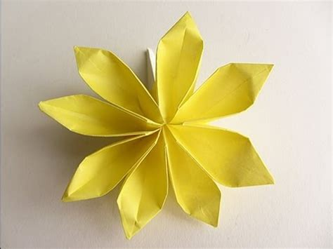 Origami Petal - origami 8 petal flower version 2