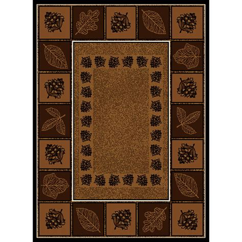 Pine Cone Area Rugs United Weavers 174 Pine Cone Trail Area Rug 5 3 Quot X7 2 Quot 195736 Rugs At Sportsman S Guide