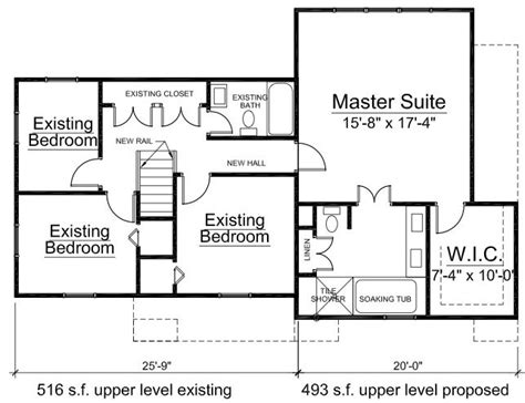 2nd floor addition floor plans additon to bethesda maryland home by architect builder