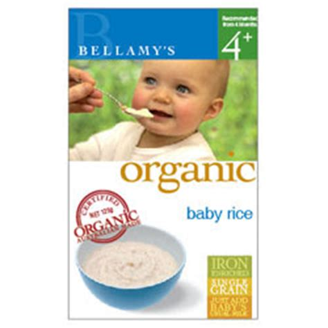Bellamys Organic Baby Rice s blogging zone bellamy s organic baby rice cereal