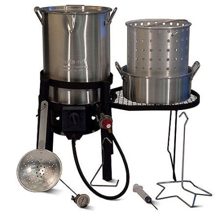 backyard turkey fryer backyard turkey fryer and boil combo with side table