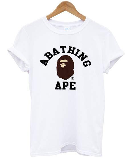 T Shirt Ape a bathing ape white t shirt