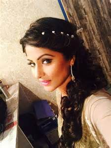 akshara wedding hairstyle gorgeous hina khan celebrity pinterest