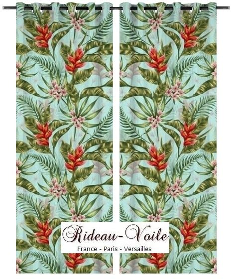 Rideaux Feuillage Tropical by Style D 233 Co Exotique Plantes Feuilles Tissu Rideau