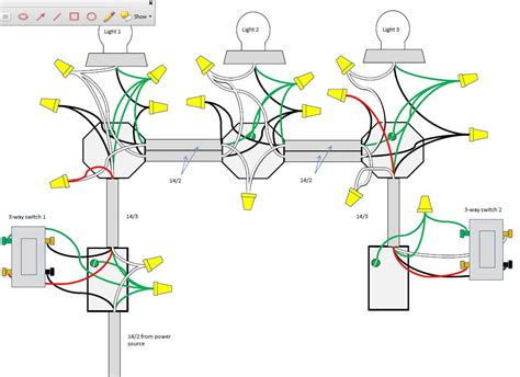 three way switch wiring diagram two lights 3 and 4