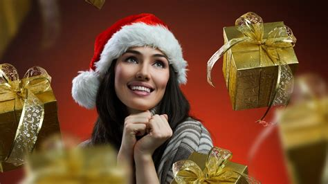 women models christmas outfits santa wallpaper 1920x1080