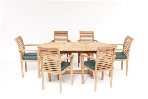 6 Seater Teak Garden Furniture Set Syracruse Teak Dining And Garden Set Humber Imports