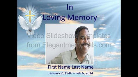 Memorial Slideshow Template Sle Youtube Funeral Slideshow Template