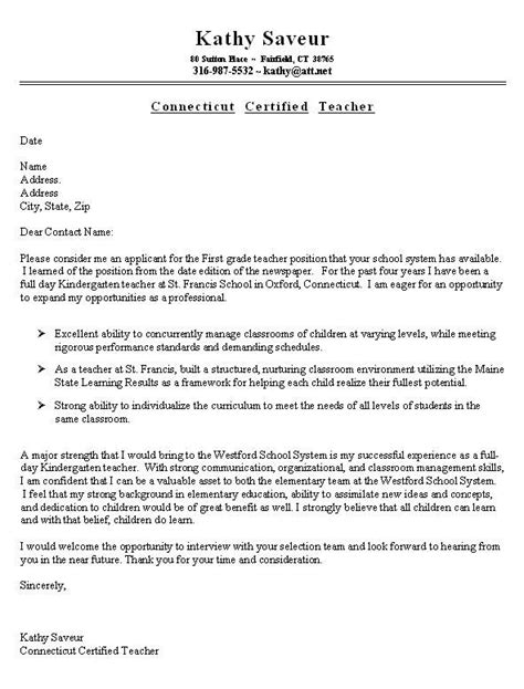 cover letter for educator sle resume cover letter for facs fundamentals