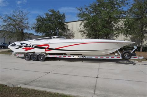 42 boat trailer for sale 2009 fountain 42 lightning power boat for sale www