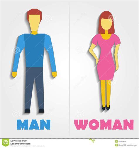 man woman bathroom symbol male and female restroom symbol icon vector illustration