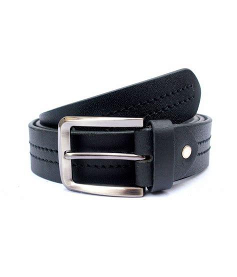 tops black coloured centre stitched leather belt buy