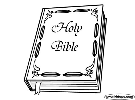 Holy Bible Coloring Page holy bible coloring page